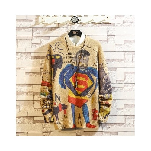 PULL HOMME - MANCHES LONGUES - I LOVE SUPERMAN