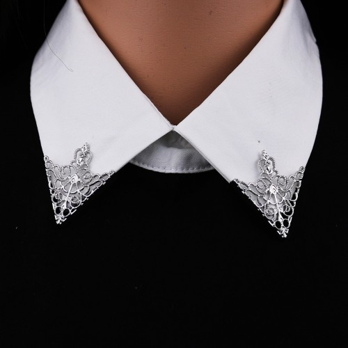 BROCHES PIN FEMME - COL CHEMISE - COURONNE AJOURÉE
