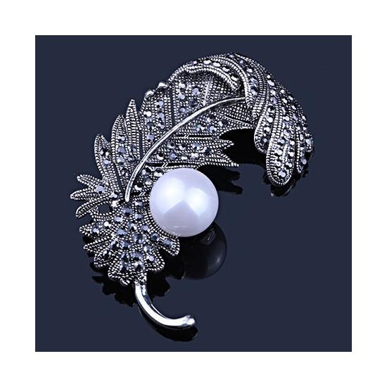 B Baosity Broche Boutonni/ère en Bois Fleur Revers Epingle Bijoux Femme Mariage Embellissement Vetement