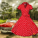 ROBE VINTAGE - POIS & MANCHES COURTES - 50 'S SWING 35,00 € | My Major Market