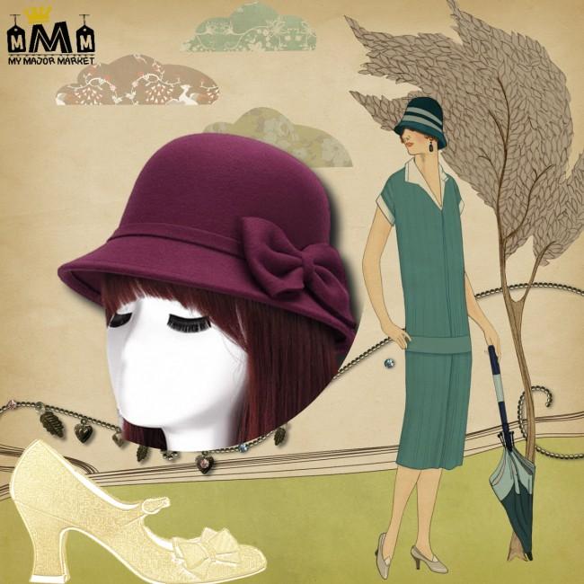 CHAPEAU POUR FEMME - CLOCHE - FEUTRE DE LAINE 47,99 € | My Major Market