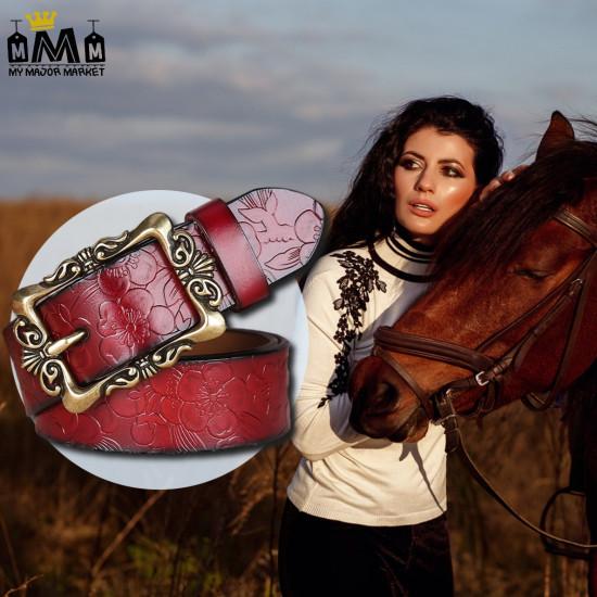 CEINTURE POUR FEMME - 100% CUIR - WESTERN GIRL