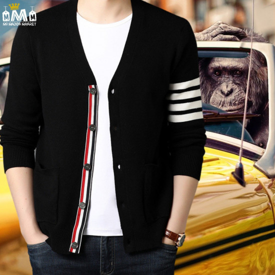 CARDIGAN VINTAGE HOMME - MANCHES LONGUES - I LOVE STRIPES