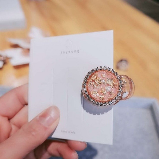 PINCE CRABE FEMME - BULLE CRISTAL & STRASS