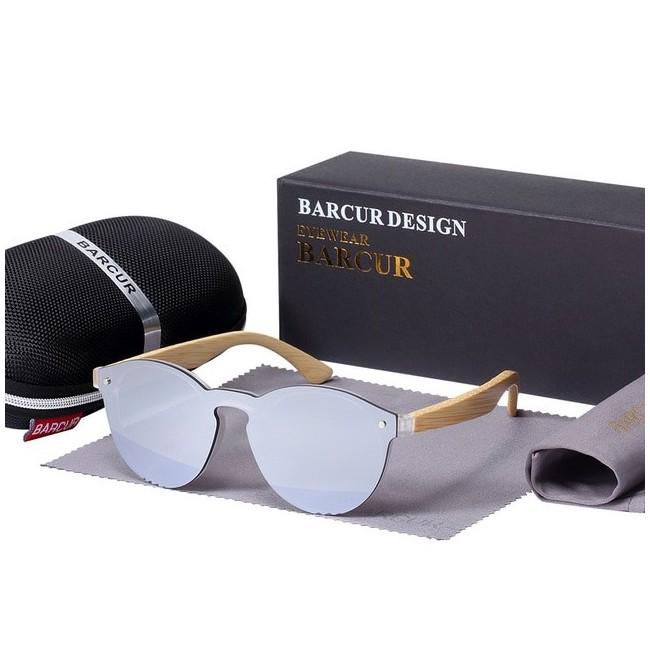 BARCUR - Lunette de Soleil pour Femme - Rondes - Bambou 25,99 € | My Major Market
