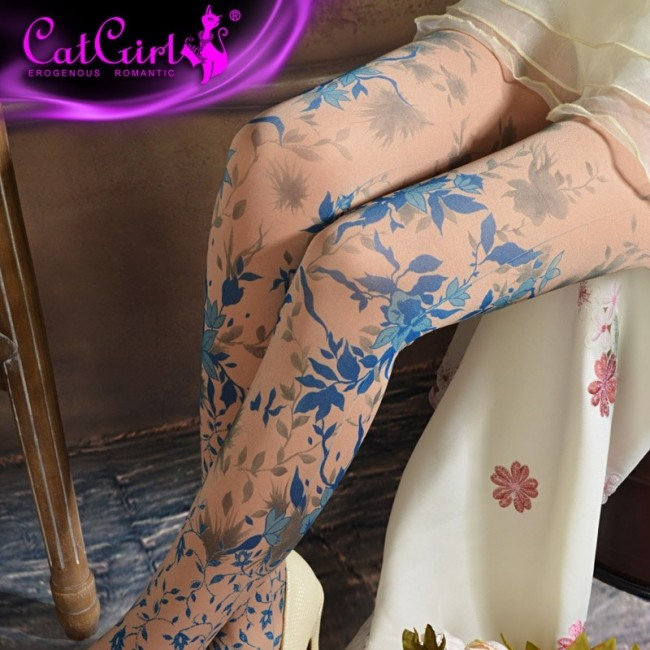 CAT GIRLS - Collants pour Femme - Imprimé Floral - Taille Unique 14,99 € | My Major Market